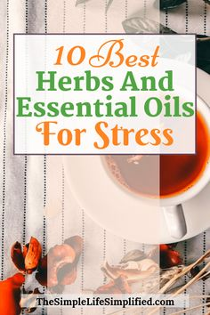Do you often find yourself stressed out and tired? There's a natural way to deal with that and get some stress relief! Try out some of these 10 best herbs and essential oils for stress. Essential Oils For Stress, Essential Oils Guide, Citrus Essential Oil, Young Living Essential Oils, Natural Health Remedies, Herbal Remedies, Herbs For Health, Natural Stress Relief, Herbal Oil