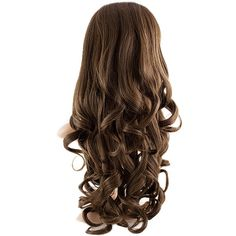 Eva Long Loose Curls Half-Head Wig In #4/27 Dark Brown Caramel ($32) ❤ liked on Polyvore featuring beauty products, haircare, hair styling tools, hair y makeup