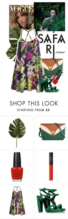 """safari"" by forever-lovely ❤ liked on Polyvore featuring Linea, Hermès, OPI, NARS Cosmetics, AX Paris and Pierre Hardy"
