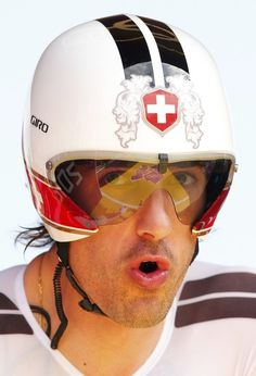 Fabian Cancellara at start of individual time trial at the London 2012 Olympic Games.