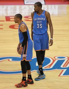 OKC Super Stars Kevin Durant 39 points, 16 Rebounds, Russell Westbrook 19 points, 12 assist had the will to win. Photo Credit: Jevone Moore ...