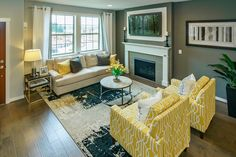 The Abbeville Living Room at Polygon at Villebois in Wilsonville, OR  #PolygonNWHomes #PolygonOR