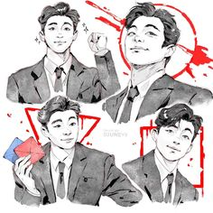 Squid Games, Gong Yoo, Shows On Netflix, Kdrama, Movie Tv, Games For Kids, Cute Art, Tv Shows, Fan Art