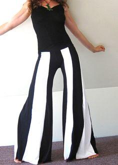 Idee voor carnaval: 2 leggings aan elkaar naaien