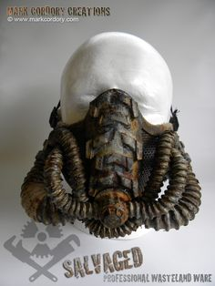 Post Apocalypse mask for LARP & Airsoft. SALVAGED Ware by Mark Cordory Creations - enquiries always welcome www.markcordory.com