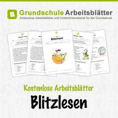 Kostenlose Arbeitsblätter und Unterrichtsmaterial für den Deutsch-Unterricht zum Thema Blitzlesen in der Grundschule.