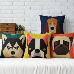 Make man's best friend your sofa's best friend. We love dogs and we love these dog cushion covers even more because unlike our four legged friends they don't leave hair and drool on our new sofa! Cudd #diy_dog_cushion