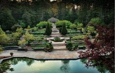 Sarah P. Duke Gardens | The Terrace Gardens as seen from the Frances P. Rollins Overlook. Photo by Rick Fisher.