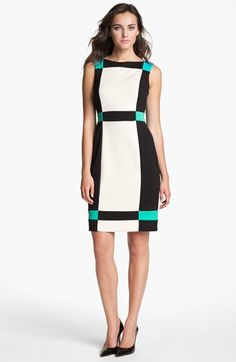 Maggy London Colorblock Sheath Dress available at #Nordstrom