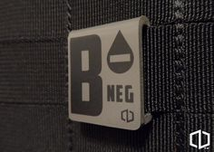 B-NEGATIVE - MOLLE CLIP                                                                                                                                                                                 More Molle Gear, Molle Backpack, Cool Patches, Pin And Patches, Tactical Patches, Tactical Gear, Molle Accessories, Molle Attachments, Get Home Bag