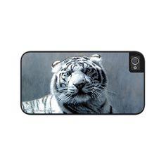 "Airstrike® 50-3501-""White Tiger"" Tiger iPhone 5 Case, iPhone 5s Case, iPhone 4/4s Case Protective Phone Cases"