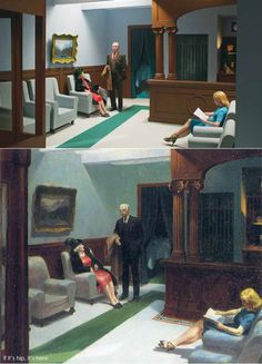 If It's Hip, It's Here (Archives): 13 Edward Hopper Paintings Are Recreated As Sets For Indie Film 'Shirley - Visions of Reality. American Realism, American Art, Shirley Visions Of Reality, Edward Hopper Paintings, Ashcan School, Tableaux Vivants, Hotel Lobby, Wassily Kandinsky, Vincent Van Gogh
