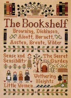 """""""The Bookshelf"""" Little House Needleworks I want to make this for my Sara..."""