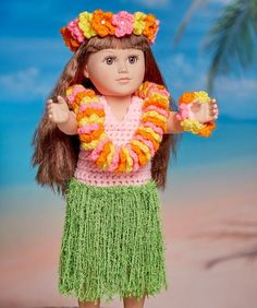 Aloha Hula Doll pattern - OMG how stinkin' cute is this?!?
