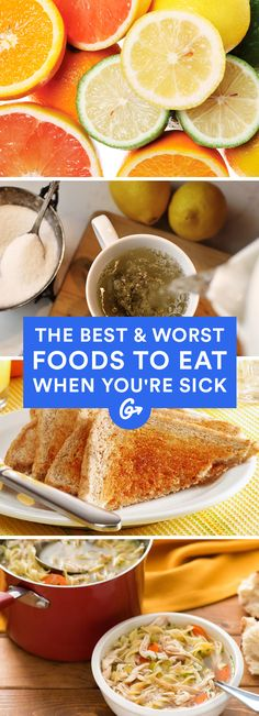 Feeling under the weather? Dig into these foods and drinks to get back into tip-top shape in no-time #sick #wellness #remedies http://greatist.com/health/best-foods-eat-when-sick