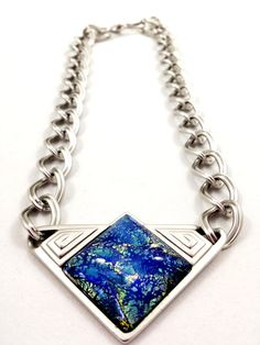 i love everything about this but the price! Vintage YSL Necklace Yves Saint Laurent Blue by GalleryThreeSixty, $524.95