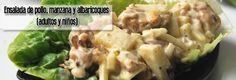 Ensalada de pollo, manzana y albaricoques (adultos y niños) « Remediosnatural.com