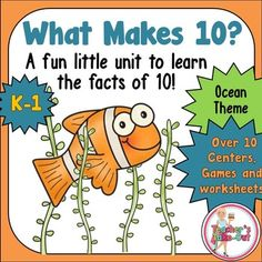 Think how important it is for students to know the combinations of 10. This pack is loaded with ideas, games, worksheets, and activities to learn and memorize the combinations of 10. $