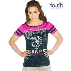 Touch by Alyssa Milano New Orleans Saints Women's Breast Cancer Awareness Quick Pass Long Sleeve Thermal T-Shirt - Black