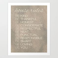 House Rules Art Print by Grace Kelly McConnell - $16.00