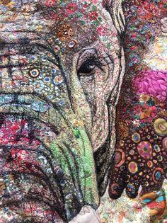 Detail of bull elephant