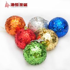 6 pcs Mix cor espuma árvore de natal decoração de diâmetro de 6 cm de Paillette de natal festa de casamento de natal XmasB024 em Ornamentos bola de Home & Garden no AliExpress.com   Alibaba Group