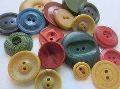 Vintage Buttons  Cottage chic primitive mix of by pillowtalkswf, $8.95