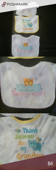 Three bibs, never been used! Bundle with three bibs. No stains. Cute sayings on each! Accessories Bibs