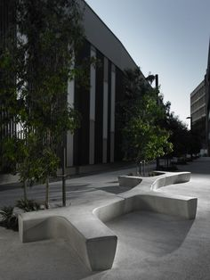 Modular polyethylene garden bench TWIG   @derloteditions