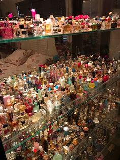 Pinned by: Nicole Cocaine Perfume Storage, Perfume Organization, Perfume Display, Makeup Organization, Perfume Collection, Makeup Collection, Perfume Scents, Perfume Bottles, Perfume Tray