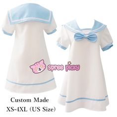 Custom Made XS-4XL Chibi Kawaii Bow Sailor Dress SP152310