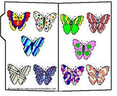 Preschool Printables : File Folder / Beautiful Butterflies