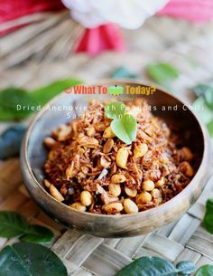 Malaysian Cuisine, Nasi Lemak, Sweet And Spicy, Peanuts, Seafood, Appetizers, Vegetables, Cooking, Recipes