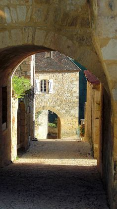 Village of Castlenaud in the Dordogne - central France