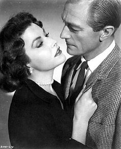 Mara Corday and Richard Denning in The Black Scorpion