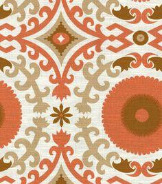 Nate Berkus Home Decor Print Fabric- Timur Sussex Ginger