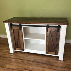Entertainment Console w barn doors for Sale in Bothell, WA - OfferUp Interior Paint Colors For Living Room, Paint Colors For Home, Room Interior, Barn Doors For Sale, Diy Barn Door, Home Living Room, Living Room Decor, Hollow Core Doors, Home Furnishings