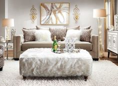 How To Find Quality Living Room Furniture Cream And Gold Living Room, Beige Living Rooms, Living Room Decor Cozy, Living Room On A Budget, Living Room Modern, Home Living Room, Living Room Designs, Living Room Furniture, Living Spaces