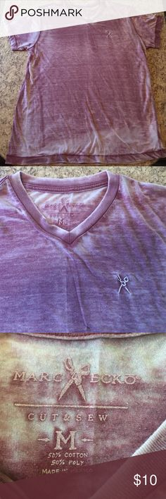 """Marc Ecko Cut & Sew T-shirt • M Men's Marc Ecko Cut & Sew t-shirt.  Maroon and white """"burnout"""" style shirt.  Size Medium.  Worn but good condition.  (Excuse the wrinkles, it's been in storage!) Marc Ecko Shirts Tees - Short Sleeve"""