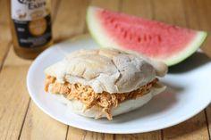 Buffalo Chicken Sandwiches (Made in the Crockpot)