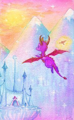 "[Spyro the Dragon] ""Icy Flight"" by Tankero [DevianArt] Crash Bandicoot, Thanks Game, Inktober, Spyro And Cynder, Batman Tattoo, I Love Games, Spyro The Dragon, Video Game Art, Video Games"