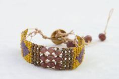 Loomed Bead Bracelet Native American Design by kathykdesigns, $50.00