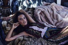 Alessandra Ambrosio by Dennis Leupold for Harper's Bazaar Kazakhstan December 2015 - Valentino Fall 2015