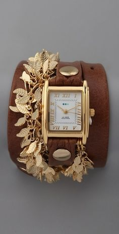 La Mer Collections Multi Leaf Charm Watch - Lyst