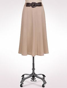 Misses | Skirts | Braid Belted Linen Skirt | dressbarn
