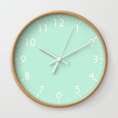 Buy Mint Green Wall Clock by beautifulhomes. Worldwide shipping available at Society6.com. Just one of millions of high quality products available.