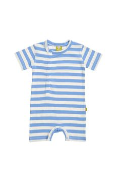nuiCOTTON Cinco Romper Ocean Stripe