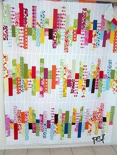 POPPYSEED FABRICS: quilt kit in the making -random reflections