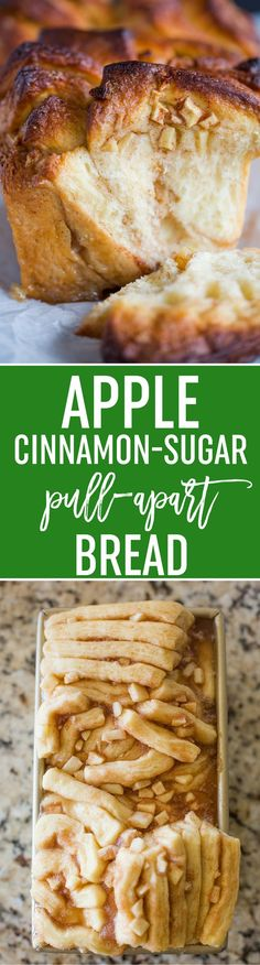 Apple Cinnamon Pull Apart Bread - This easy bread is made completely from scratch and tastes like apple pie! Perfect for weekends or holiday breakfasts! via @browneyedbaker