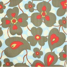 Amy Butler Lotus Morning Glory Linen Fabric Yardage